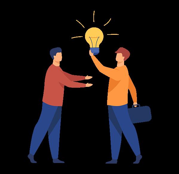 imagem-ilustracao-parceria-ideias-juntos